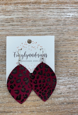 Jewelry TLD Colored Cheetah- Burgundy