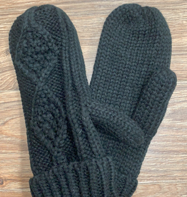 Mittens Black Cable Mittens