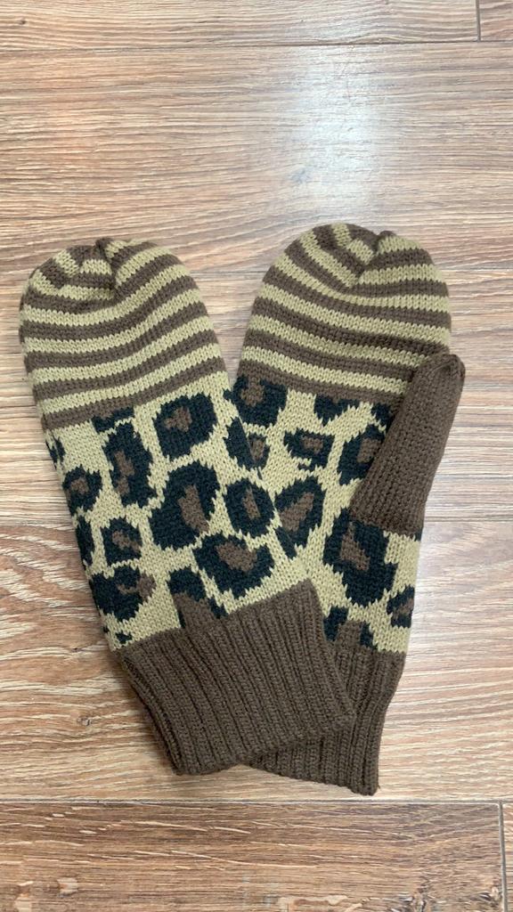 Mittens Leopard & Stripes Mittens