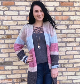 Cardigan Morgan Multi Stripe Cardi