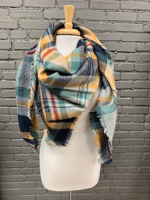 Scarf Checker Plaid Blanket Scarf