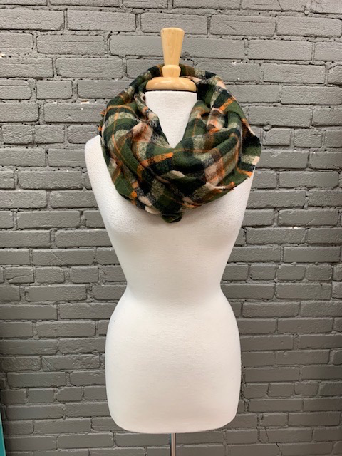 Scarf Plaid Check Infinity Scarf