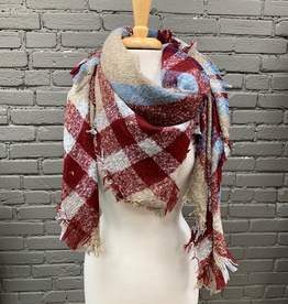 Scarf Large Plaid Blanket Scarf