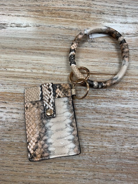Wallet Dax Snakeprint Card Holder Bracelet