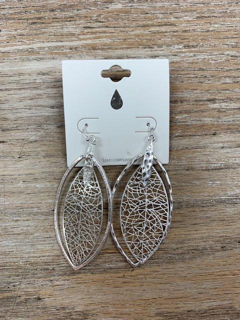 Jewelry Silver Web Dangle Earrings