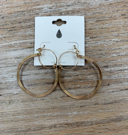 Jewelry Gold Wire Hoop Earrings