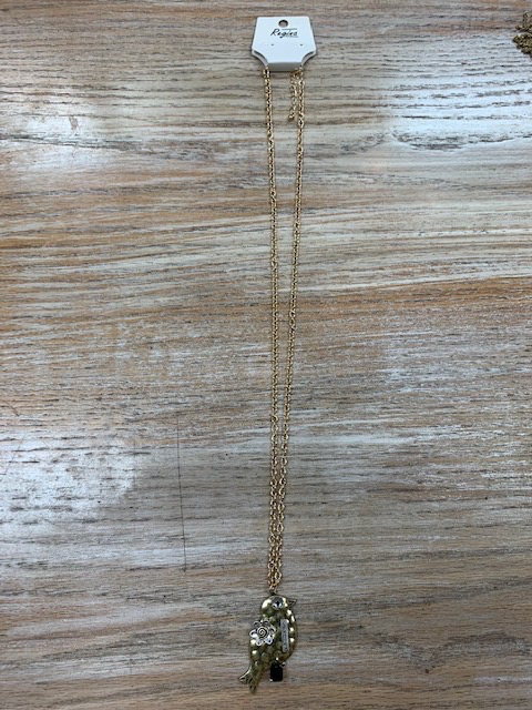 Jewelry Long Gold Bird Necklace