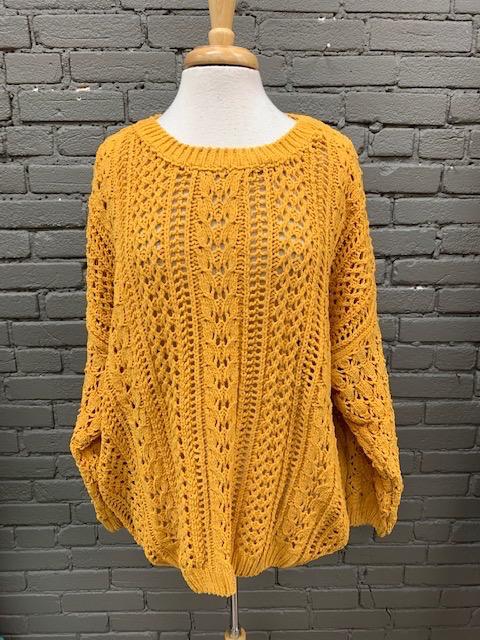 Sweater Viv Mustard Chenile Sweater