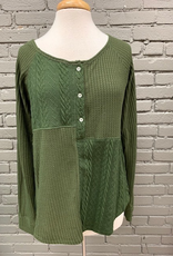 Long Sleeve Val Olive Thermal Cable LS
