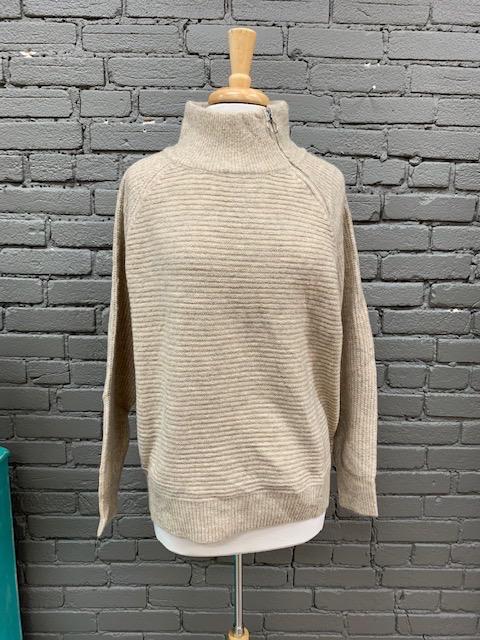 Sweater Sadie Neck Zip Mock Sweater