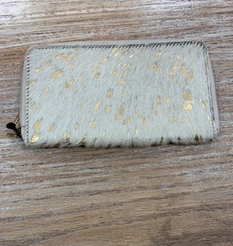 Wallet Gold Desire Lather Hairon Wallet