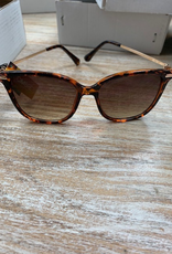 Sunglasses Sunglasses- Tortise Wire Frame