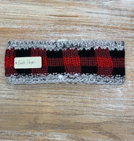 HeadBand Plaid Fleece Knit Headband