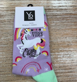 Socks Women's Crew Socks- UnicornVibes