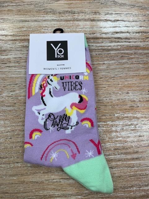 Socks Women's Crew Socks- UnicornVibes