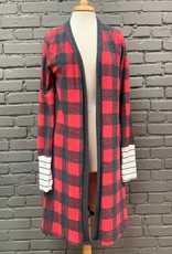 Cardigan Marge LS Plaid Cardigan