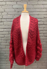Cardigan Babs Open Cardi Popcorn Bubble Sleeve