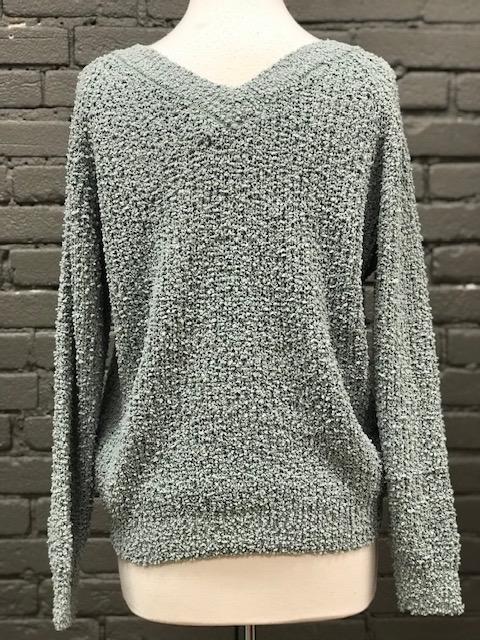Sweater Kyla Popcorn Drawstring Sweater