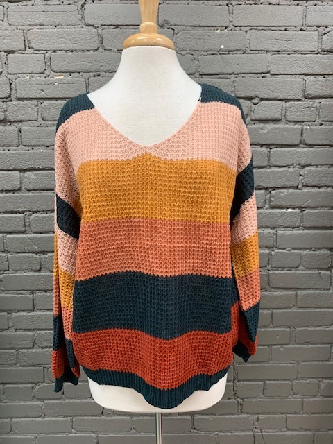 Sweater Selena Colorblock Sweater