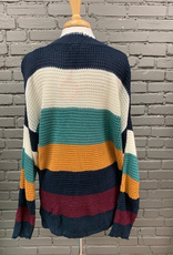 Sweater Jessica Multi Color Stripe Sweater