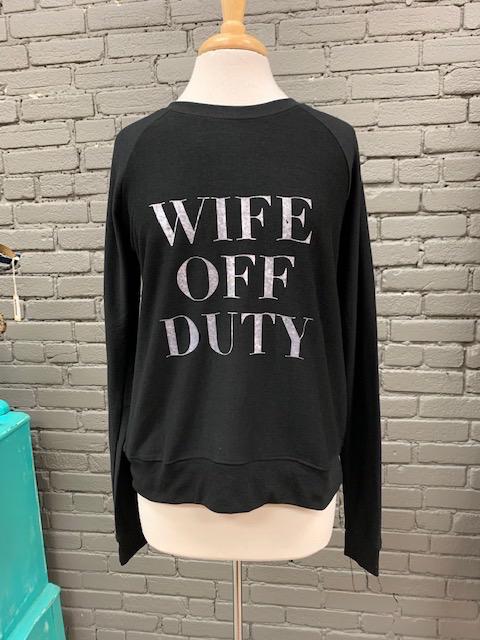 Long Sleeve Wife Off Duty Sweatshirt
