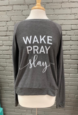 Long Sleeve Wake Pray Slay Sweatshirt