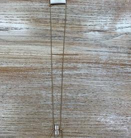 Jewelry Long Gold Geometrtic Gem Necklace