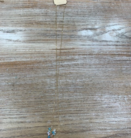 Jewelry Long Gold Necklace Beaded Ends