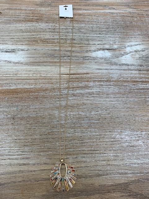 Jewelry Long Gold Ray Of Sun Necklace