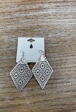Jewelry Silver Web Like Earrings