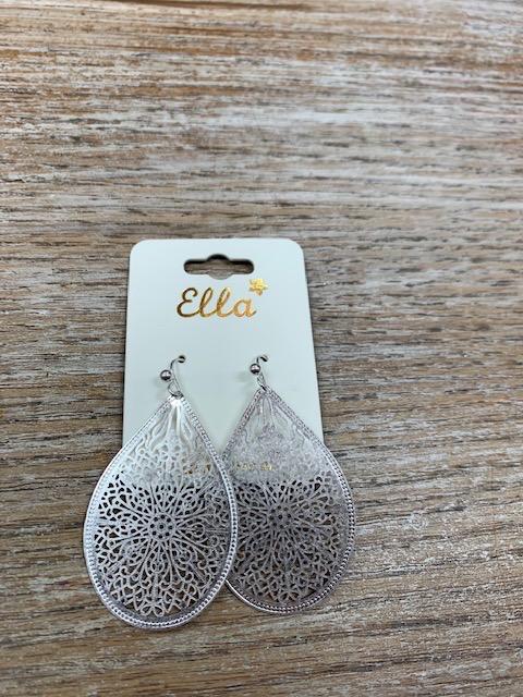 Jewelry Silver Teardrop Design Earrings