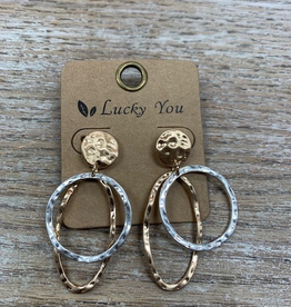 Jewelry Gold Oval Silver Circle Earrings