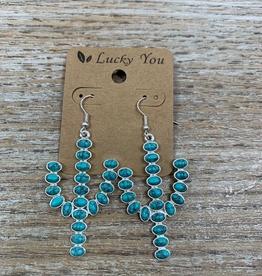 Jewelry Turq Stone Cactus Earrings
