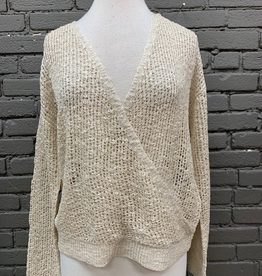 Sweater April Open Knit VNeck Sweater
