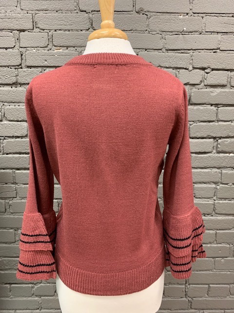 Sweater Madison 3/4 Bell Sleeve Sweater