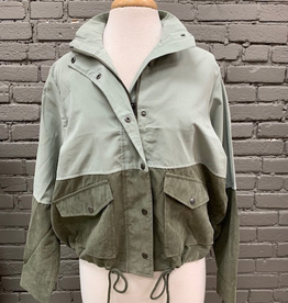 Jacket Lori Sage Olive Zip Lightweight Jacket
