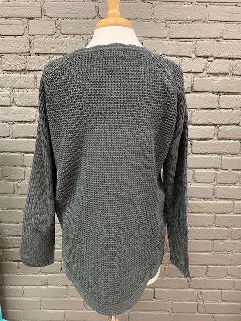 Sweater Layla Charcoal Knit Sweater