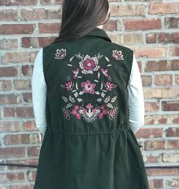 Vest Luna Zip Vest w/ Embroidery