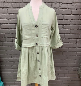 Dress Addison Sage Button Down Dress