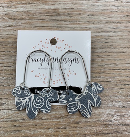 Jewelry TLD Gray Paisley Flower