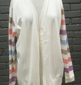 Cardigan Avery Multi Stripe Sleeve Cardigan