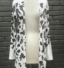 Cardigan Aria Leopard Print Knit Cardigan