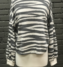 Long Sleeve Zoey Animal Print With Ruched Back