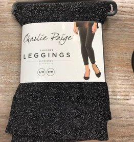 Leggings Black Knit Shimmer Leggings