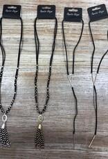 Jewelry Black Suede Necklace