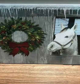 Decor Horse w/ Wreath LED Sign