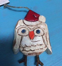 Decor Santa Hat Owl Ornament