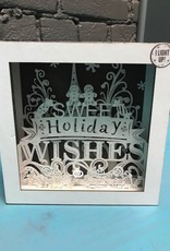 Decor Lit Sweet Holiday Wishes Box 6x6