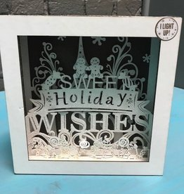 Decor Lit Sweet Holiday Wishes Box 6x6