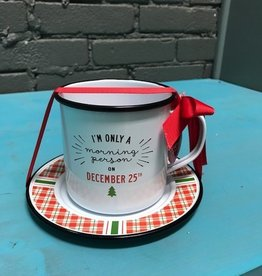 Kitchen Christmas Mug/Saucer Set